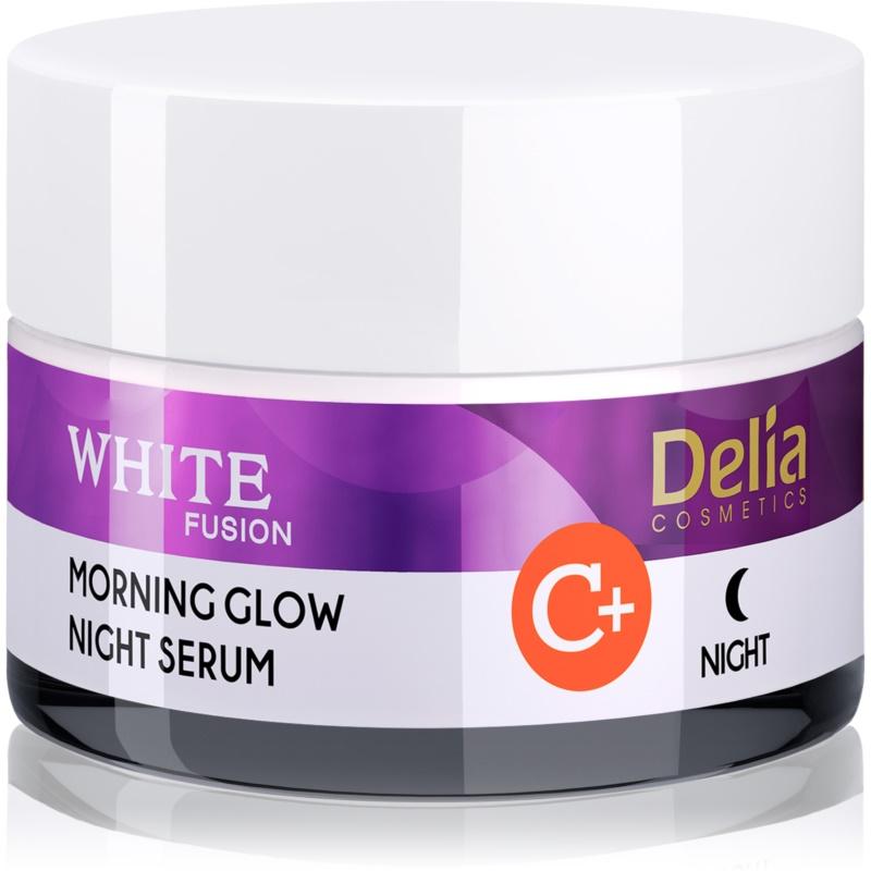 Delia Cosmetics White Fusion C+ rozjaśniający krem na noc przeciw zmarszczkom 50 ml