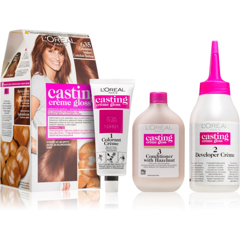 L'Oréal Paris Casting Crème Gloss farba do włosów odcień 635 Chocolate Candy