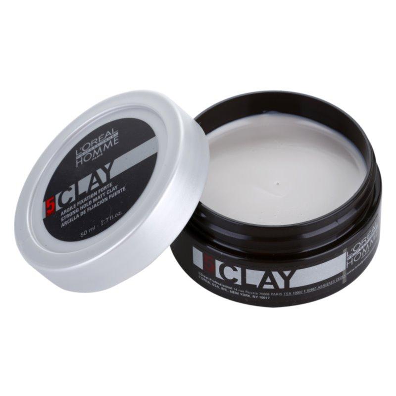 L'Oréal Professionnel Homme 5 Force Clay pasta modelująca mocno utrwalający 50 ml