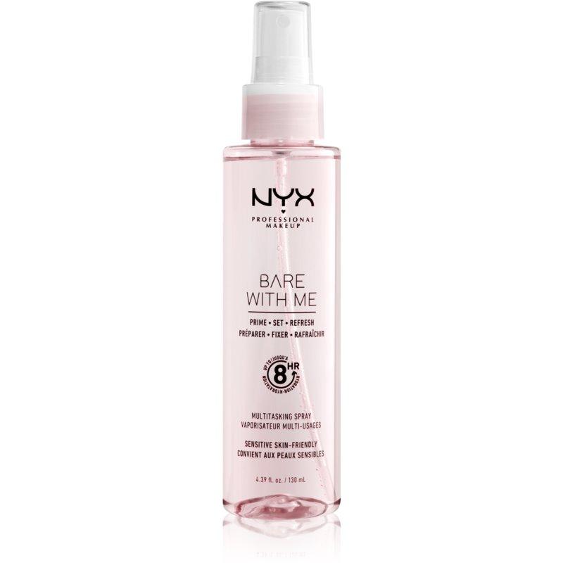 NYX Professional Makeup Bare With Me Prime-Set-Refresh Multitasking Spray lekki wielofunkcyjny spray 130 ml