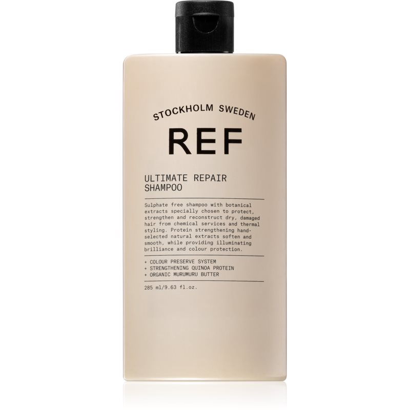 REF Ultimate Repair szampon do włosów zniszczonych przez zabiegi chemiczne i uszkodzenia mechaniczne 285 ml
