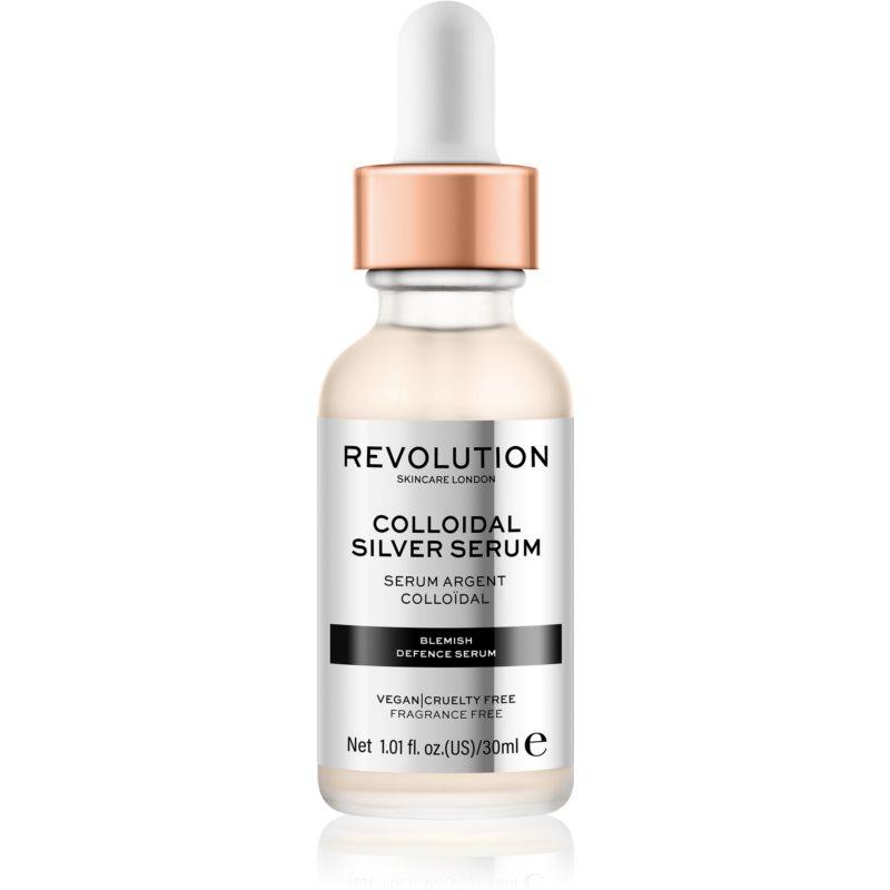 Revolution Skincare Colloidal Silver Serum Aktywne Serum do wygładzania konturów twarzy ze środkiem antybakteryjnym 30 ml