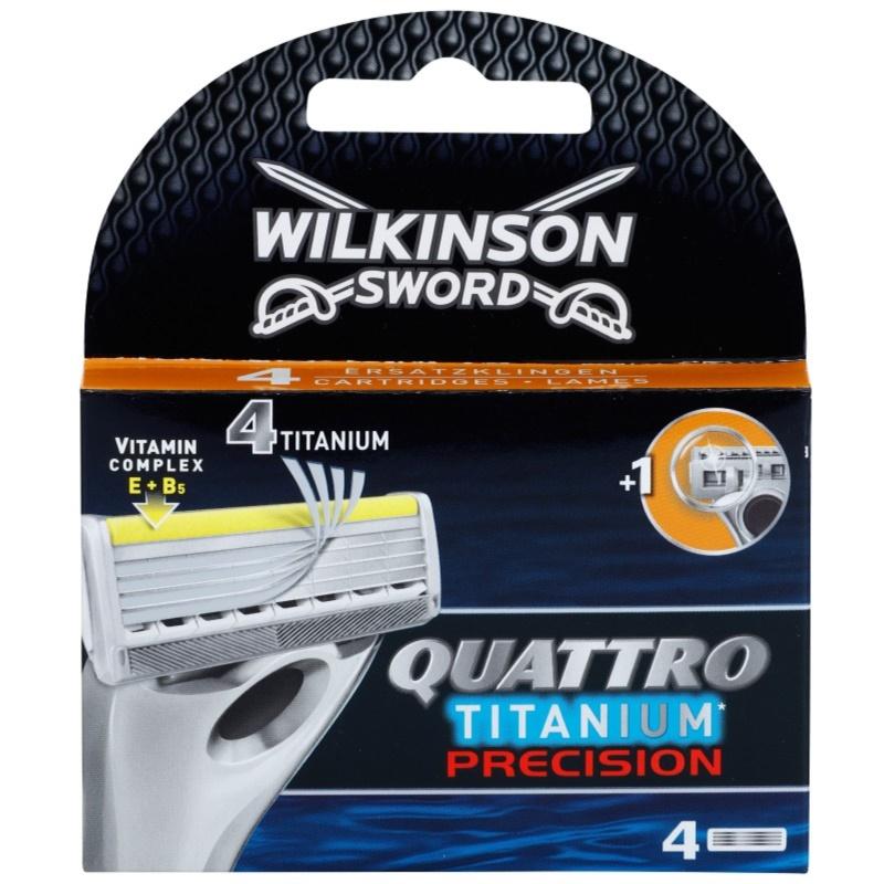 Wilkinson Sword Quattro Titanium Precision zapasowe ostrza 4 szt. 4 szt.