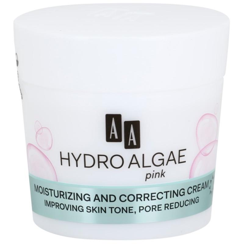 AA Cosmetics Hydro Algae Pink krem ujednolicający do nawilżenia skóry i zmniejszenia porów 50 ml