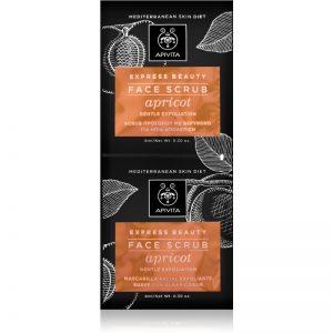 Apivita Express Beauty Apricot delikatny peeling do twarzy 2x8 ml