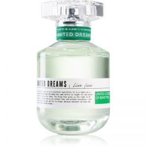 Benetton United Dreams for her Live Free woda toaletowa dla kobiet 80 ml
