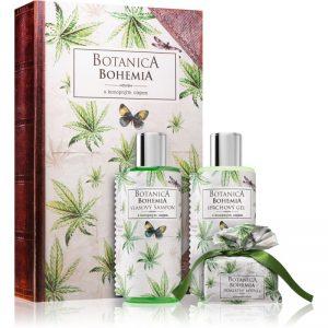 Bohemia Gifts & Cosmetics Botanica zestaw upominkowy z olejkiem konopnym