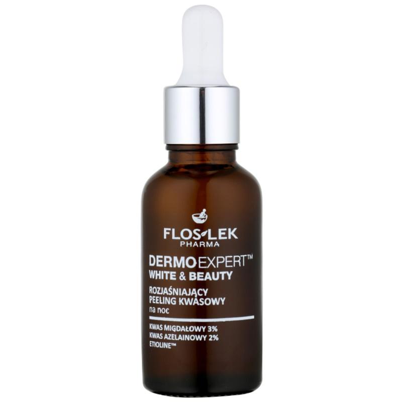 FlosLek Pharma DermoExpert Acid Peel nocna pielęgnacja rozjaśniająca przeciw przebarwieniom skóry 30 ml