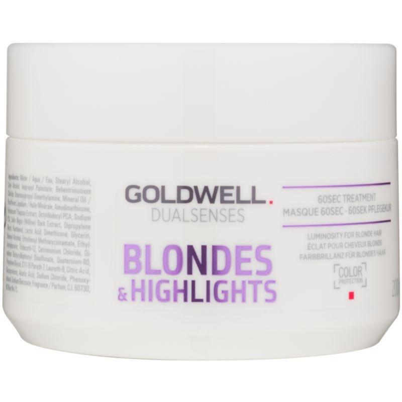 Goldwell Dualsenses Blondes & Highlights maseczka regenerująca neutralizujący żółtawe odcienie 200 ml