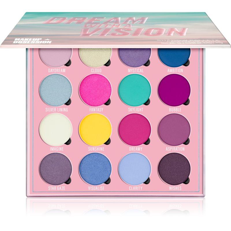 Makeup Obsession Dream With A Vision paleta cieni do powiek 16 x 1,30 g