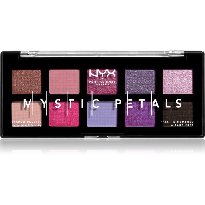 NYX Professional Makeup Mystic Petals paleta cieni do powiek odcień Midnight Orchid 10 x 0,8 g