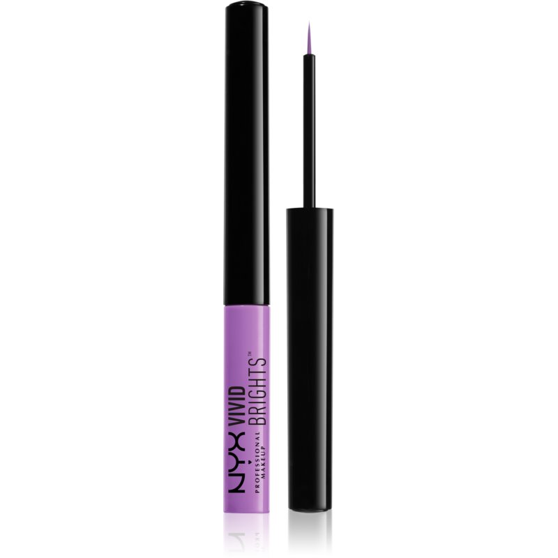NYX Professional Makeup Vivid Brights kolorowe eyelinery w płynie odcień 09 Vivid Blossom 2 ml