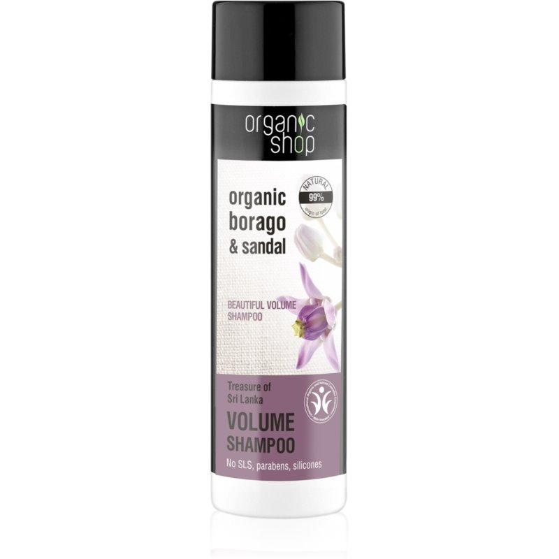 Organic Shop Organic Borago & Sandal szampon do zwiększenia objętości 280 ml